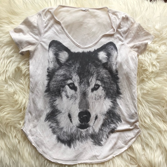 Garage Tops - White Garage Wolf Tee M